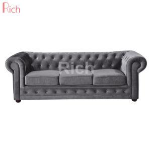 De estilo europeo moderno sofá Chesterfield Hotel Sala de estar sofá de tela
