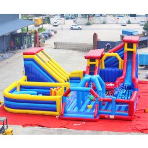 La diversión de niños al aire libre Estacionamiento juegos inflables gigantes de trampolín