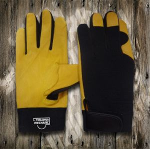 Trabalho de couro Glove-Working Glove-Safety Glove-Mechanic Glove-Labor Luva Glove-Leather