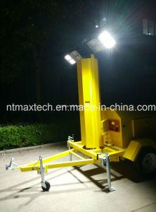 Generador Powered portátil LED torre de luz para el tráfico de la construcción de carreteras campo de trabajo