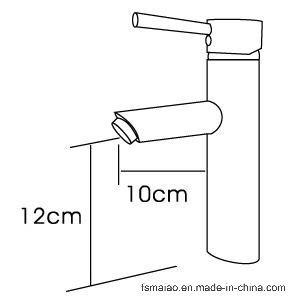 オーストラリアの標準衛生製品の円形の真鍮の浴室の洗面器の蛇口(HD6016)