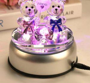 LEIDENE Lichte Basis met 3D Muziekdoos van Chirstmas van het Kristal van de Laser met de Lichte Basis van het Kristal van de Gift van het Huwelijk USB