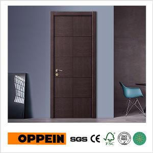 простой дизайн Oppein Mdf деревянные двери с плоским экраном Venner