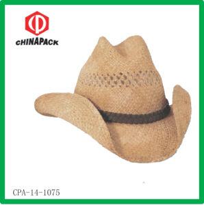 Cappello del cowboy del Mens della rafia di promozioni (CPA-14-1075)