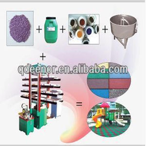 Gummifußboden-Fliese-vulkanisierenpresse-Maschine/Gummimatte, die Maschine herstellt