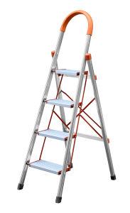 En el hogar de acero inoxidable de 4 peldaños de escalera 4Pasos escaleras carga máxima 150 kg.