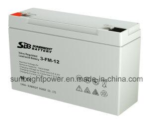 6V12ahセリウムのRoHS ULが付いている小型AGM電池(3-FM-12W)