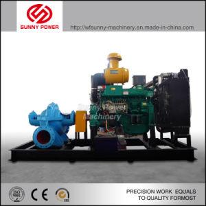 Motor diesel de 12 pulgadas de la bomba de agua para riego salida