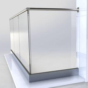 Grill de van uitstekende kwaliteit van het Balkon van het Kanaal van de Basis van U van het Roestvrij staal met Aangemaakt Glas