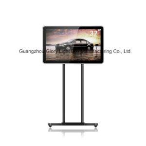 각자 서 있는 이동할 수 있는 움직이는 32 인치 LCD 위원회