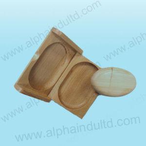 木製のピルボックスの箱(ALP-005P)