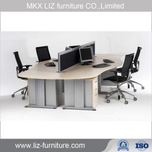 Oficina de estilo simple armario curvo de la estación de trabajo con escritorio 2084