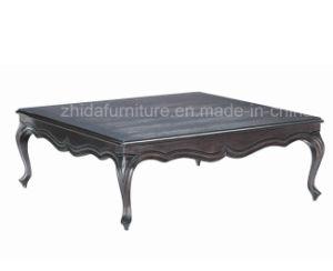 Estilo clásico de madera maciza mesa de café de plaza de la madera de fresno