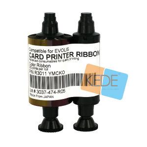 Pebble4 Dualys 3 Securionのそう書カードプリンターのための互換性のあるEvolis R3011 Ymckoの色刷のリボン