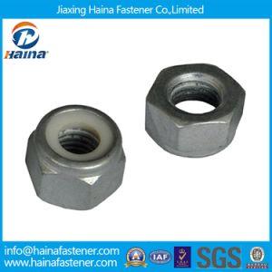 En acier au carbone de l'écrou nyloc HDG/acier inoxydable DIN985 Hex les écrous de blocage en Nylon pour l'industrie