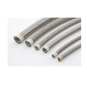 Tubo flessibile di Teflon Braided dell'acciaio inossidabile PTFE di SAE100 R14 Dn8