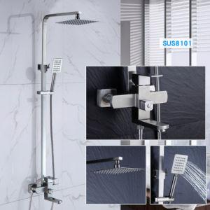 샤워 꼭지 세트, 벽 설치를 위한 소형 결합 세트를 가진 목욕탕 강우 샤워 시스템 비 믹서 샤워 꼭지