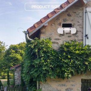 LED-Solarim freiengarten wasserdichtes energiesparendes Doppel-Kopf Licht