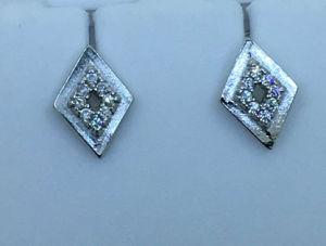 925 Sterling Silver Jewellry Rhombus Stud pendientes