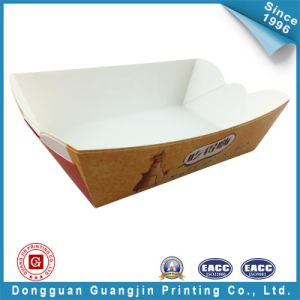 Diseño personalizado Imprimir alimentos bandeja de papel (GJ bandejas001)
