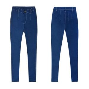 De zuivere Jeans van Legging van de Dames van de Kleur Donkerblauwe Magere Jonge