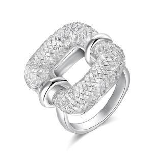 Maillage de mode Crystal bague artificielle créatrice de bijoux