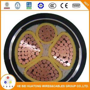 kabel van de Macht van de Band van het Staal van de Leider van Cu 0.6/1kv 3*70+35mm2 de pvc Geïsoleerder Gepantserde pvc In de schede gestoken