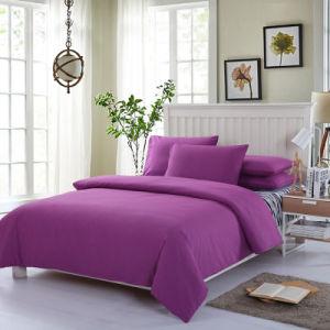 平らなシートの合われたシートおよび枕カバーを含む100%年のポリエステル無地のMicrofiberの寝具シートセット