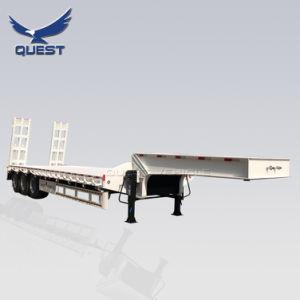 Welle 3 Bett-Schlussteil-Preis-LKW-halb Schlussteile 80 Tonneder hochleistungsgooseneck-niedrige Ladevorrichtungs-/Lowbed/Lowboy niedrige für Exkavator-Transport
