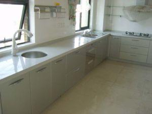Witte Countertop van het Kwarts voor Keuken, de Bovenkant van de Ijdelheid