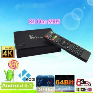 HD PronビデオTVボックスKodi 15.2 Googleのアンドロイド5.1のロリポップスマートなTVボックスと2018年の工場価格Ki、Amlogic S905 Ottと人間の特徴をもつAmlogicのクォードのコアAlibaba Kiの