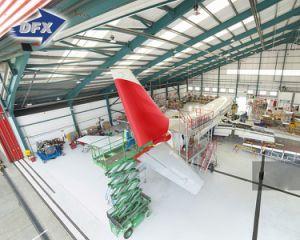 Galvanizado de alta calidad Metal prefabricadas de estructura de acero estructural de la luz de la construcción de hangar de aviones