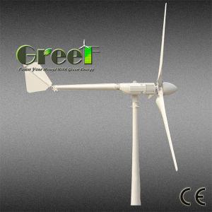 1KW 2 kw 3KW pequeno gerador de turbinas eólicas para tejadilho montado