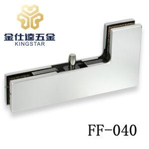 Acero inoxidable puerta de cristal curvado de parches de manivela con abrazadera de montaje de vidrio de pivote hardware FF-040