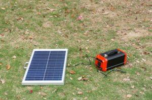 Home Use o Sistema de Energia Solar Portátil gerador de energia solar com painel solar 50W