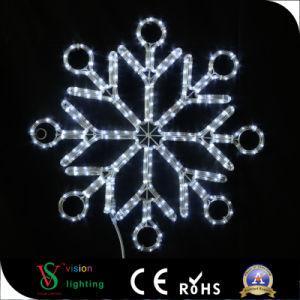 LED-frohe Weihnacht-Motiv-Schneeflocke-Licht