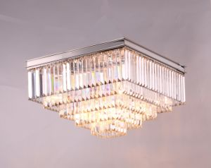 Одеон в стиле Арт Деко очистить стекло дополнительные квадратные потолочные лампы