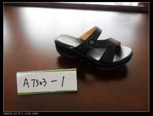 PU sandales de filtre en coin