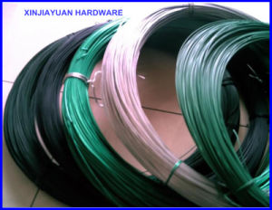 De arame de ferro galvanizado revestido de PVC com grandes bobinas