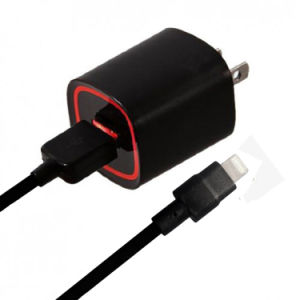 Caricatore nero/bianco della parete QC2.0 con il cavo del USB per l'America Verizon
