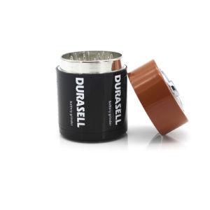 Bateria de grandes ligas de zinco moedor de Ervas 43mm