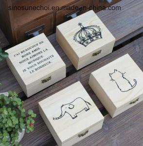 hecho personalizado de madera maciza Presentación Caja de embalaje de regalo con separadores