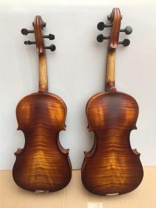 O abeto contraplacados violino com Tiger chama 1/8-4/4