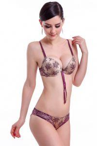 Diseño de encaje de la moda Sexy Bra, ropa interior de algodón (EPB301)