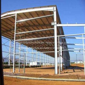 Magazzino prefabbricato chiaro dell'acciaio per costruzioni edili in Angola