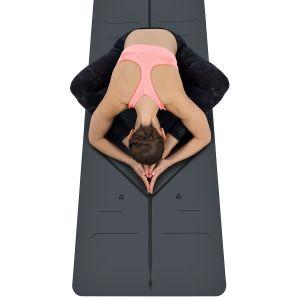 Calidad superior de la Ronda de Caucho Natural Cork estera del yoga