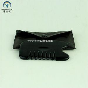Бянь камня (черный) Meridian гребень для зачистки Gua Ша инструменты (G-3A) акупунктуры