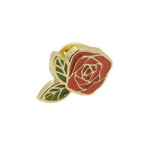 Distintivo in lega di zinco di Pin del fiore dello smalto su ordinazione all'ingrosso