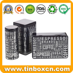 مجموعة من معدنة قصدير صندوق لأنّ سكر قهوة شام يعبّئ