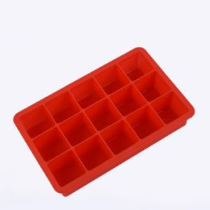 Grau alimentício Bandeja cubos de gelo de Silicone Molde Chocolate